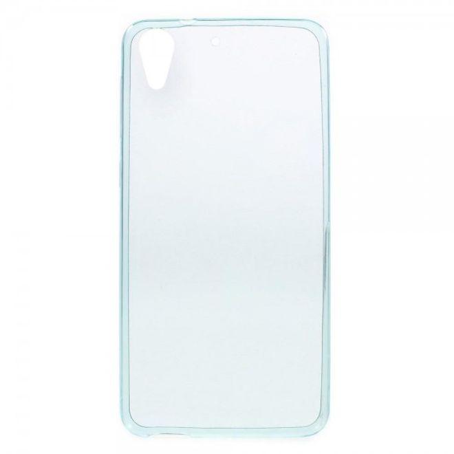 HTC Desire 728 Ultradünne, elastische Plastik Case Schutzhülle - hellblau