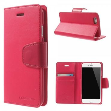 iPhone 6 Plus/6S Plus Mercury Goospery Sonata Diary Series Leder Cover Hülle mit Standfunktion - rosa