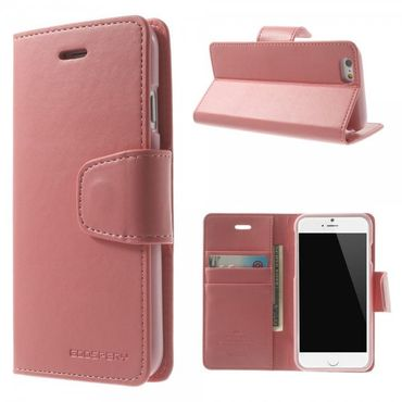 iPhone 6 Plus/6S Plus Mercury Goospery Sonata Diary Series Leder Cover Hülle mit Standfunktion - pink