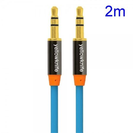 YellowKnife 3.5mm Audio Male to Male Kabel (2m) - blau
