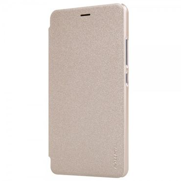 Xiaomi Redmi Note 2 Nillkin Sparkle Series Leder Flip Cover Hülle - gold