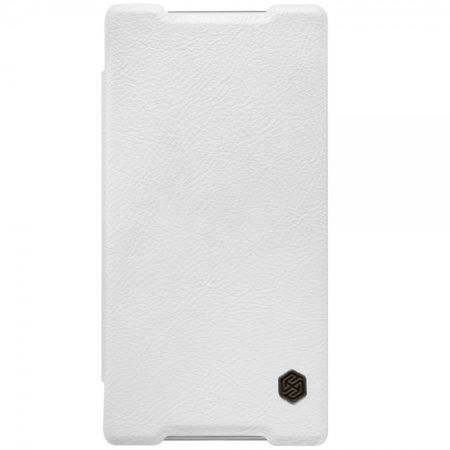 Sony Xperia Z5 Compact Nillkin Qin Series Leder Flip Cover Hülle - weiss