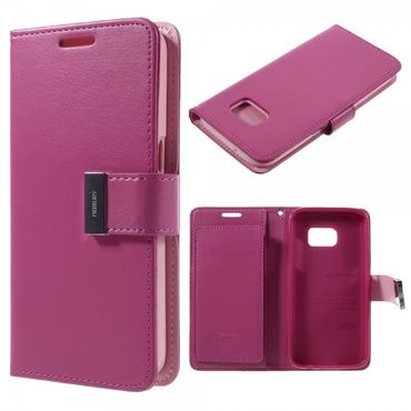 Samsung Galaxy S7 Mercury Goospery Rich Diary Series Leder Cover Case - rosa