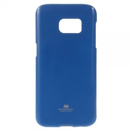 Samsung Galaxy S7 Mercury Goospery Elastische, leicht glänzende Plastik Case Hülle - dunkelblau
