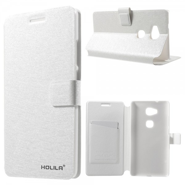 Huawei Honor 5X/Play 5X Holila Silk Series Leder Case Hülle mit seidenartiger Textur - weiss