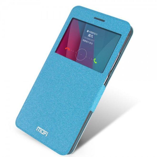 Mofi Huawei Honor 5X/Play 5X MOFI Hui Series Leder Case Handyhülle mit kleinem Fenster - hellblau