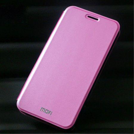 Huawei Y6/Honor 4A MOFI Vintage Series Klassische Leder Case Hülle mit Standfunktion - pink