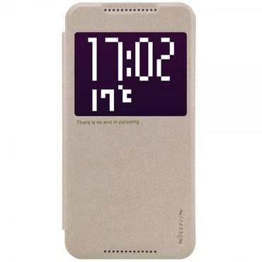 HTC One X9 Nillkin Sparkle Series Leder Smart Cover Hülle mit kleinem Fenster - gold