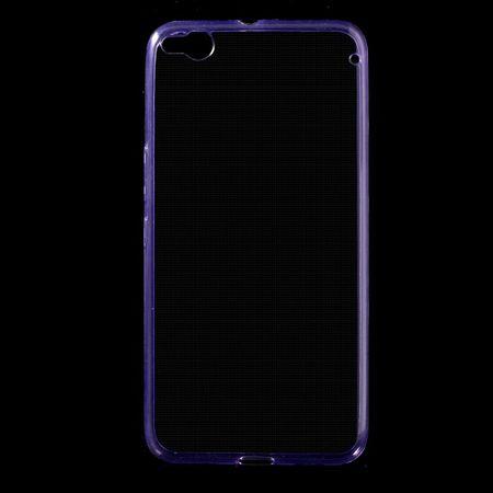 HTC One X9 Ultraschlanke, elastische Plastik Case Hülle - purpur