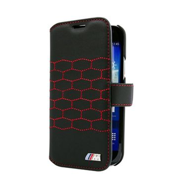 Samsung Galaxy S4 Mini BMW M Collection Leder Tasche - schwarz