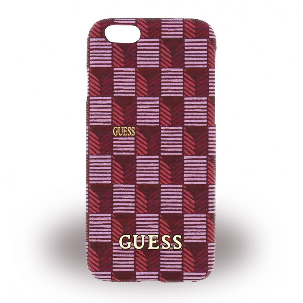 Guess iPhone 6/6S Guess Jet Set Hart Plastik Case Hülle - pink