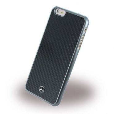 iPhone 6 Plus/6S Plus Mercedes Benz Dynamic Karbon Hart Plastik Case Hülle - grau