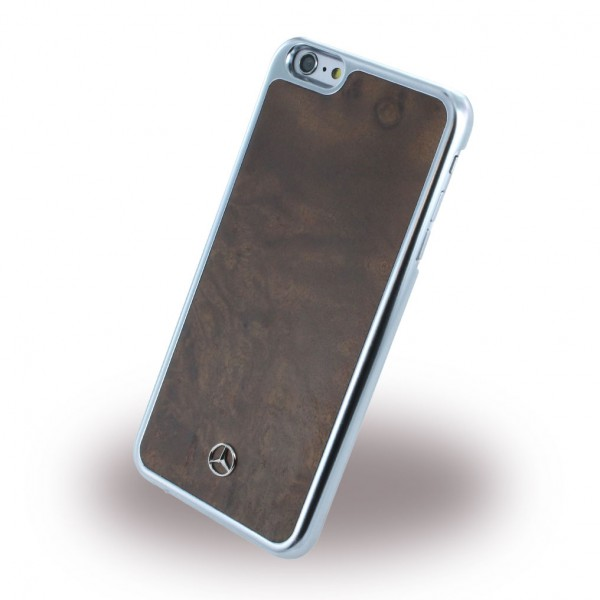 Mercedes-Benz iPhone 6 Plus/6S Plus Mercedes Benz Holz Hart Case Hülle - braun