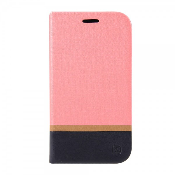 Samsung Galaxy Xcover 3 Magnetische Leder Flip Cover Handyhülle mit Standfunktion - pink
