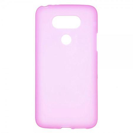 LG G5 Matte, elastische Plastik Cover Handy Hülle - rosa