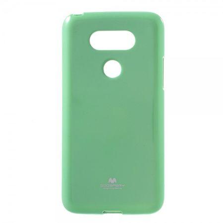 LG G5 Mercury Goospery Elastische, leicht glänzende Plastik Case Handy Hülle - cyan