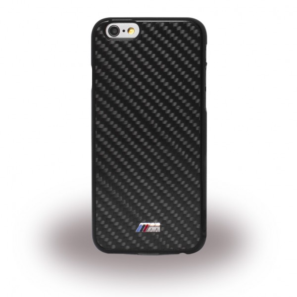 BMW iPhone 6/6S BMW Real Carbon Hart Cover Hülle - schwarz