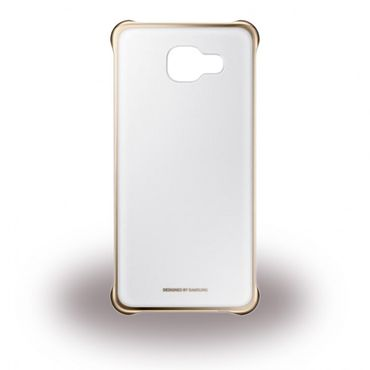 Samsung Galaxy A5 (2016 Edition) Original Clear Cover Hart Plastik Hülle - gold