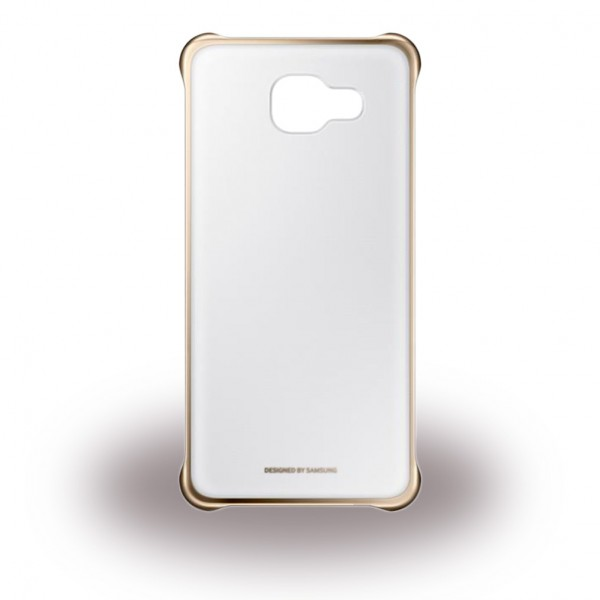 Samsung Samsung Galaxy A5 (2016 Edition) Original Clear Cover Hart Plastik Hülle - gold