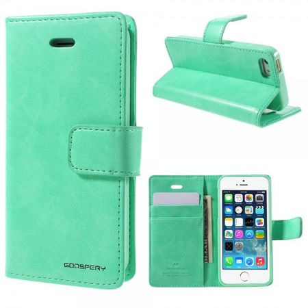 Goospery - iPhone SE/5S/5 Hülle - Handy Bookcover - Bluemoon Diary Series - mint