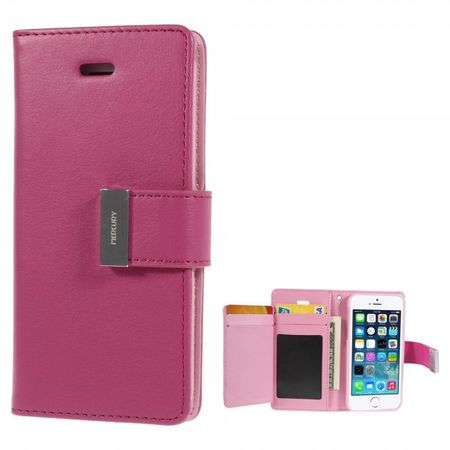 Goospery - iPhone SE/5S/5 Hülle - Handy Bookcover - Rich Diary Series - pink