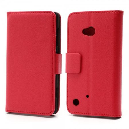Nokia Lumia 720 Klassische Leder Cover Hülle mit Standfunktion - rot