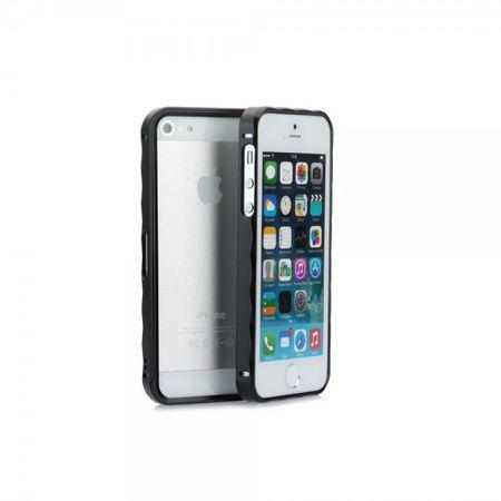 iPhone SE/5S/5 Slide-On Aluminium Metall Bumper - schwarz