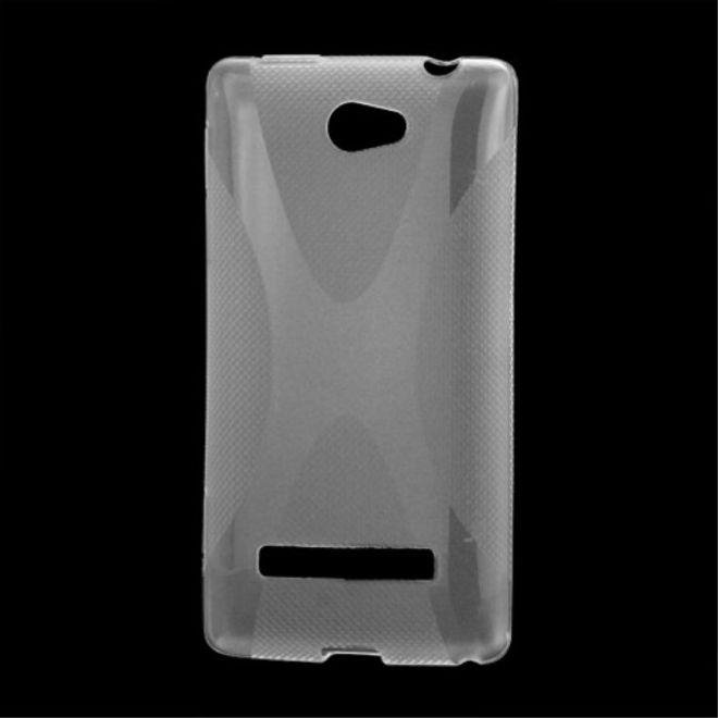HTC Windows Phone 8S Elastische Plastik Case Gummihülle X-Shape - purpur