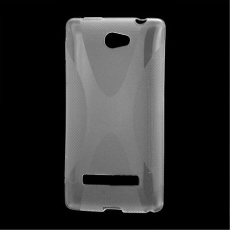 HTC Windows Phone 8S Elastische Plastik Case Gummihülle X-Shape - purpur