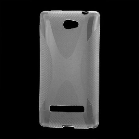 HTC Windows Phone 8S Elastische Plastik Case Gummihülle X-Shape - transparent