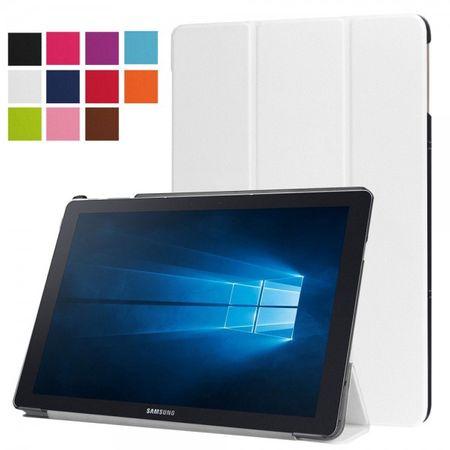 Samsung Galaxy TabPro S Dreifach faltbare Leder Case Tablet Hülle mit Standfunktion - weiss