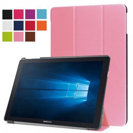Samsung Galaxy TabPro S Dreifach faltbare Leder Case Tablet Hülle mit Standfunktion - pink