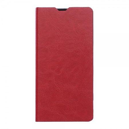 Microsoft Lumia 850 Klassische Crazy Horse Leder Cover Hülle mit Kreditkartenslots - rot