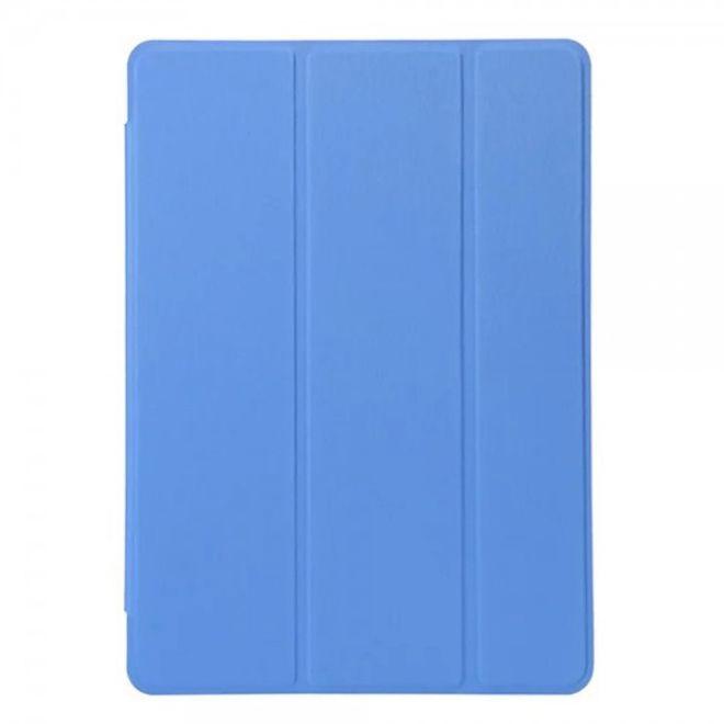 iPad Pro 9.7 Zeitlose, dreifach faltbare Leder Smart Flip Cover Hülle mit Standfunktion - blau