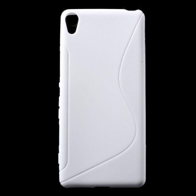 Sony Xperia XA Elastische Plastik Case Hülle S-Shape - weiss