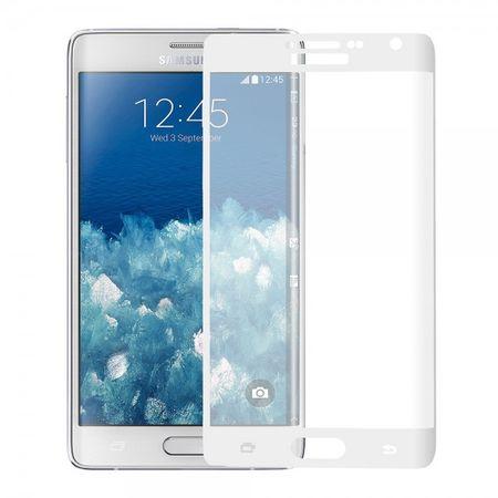 Samsung Galaxy Note Edge Schutzfolie aus gehärtetem Glas (deckt das ganze Display ab) - weiss