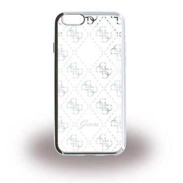 iPhone 6/6S Guess Elastische TPU Cover Hülle - silber