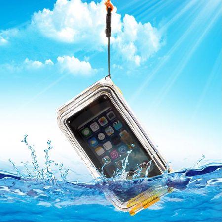 iPhone SE/5S/5 Wasserdichte Hart Plastik Case Hülle mit IPX8 Zertifizierung (bis 40m wasserdicht) - orange