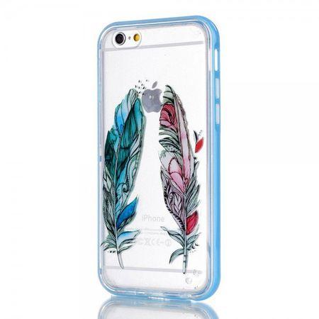 iPhone 6 Plus/6S Plus Plastik Hülle mit farbigen Federn