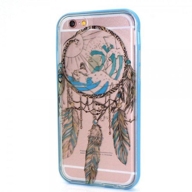 iPhone 6 Plus/6S Plus Plastik Case Hülle mit braunem Traumfänger