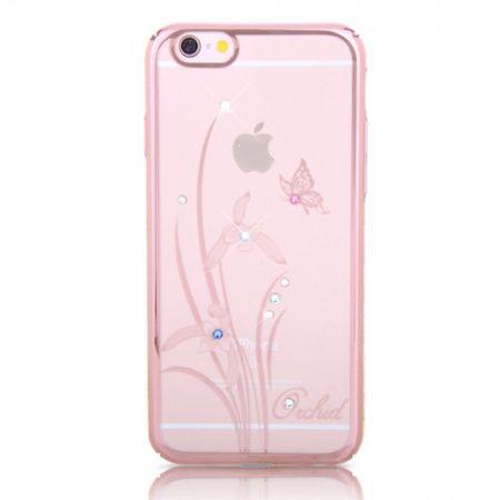 iPhone 6 Plus/6S Plus Kingxbar Hart Plastik Cover Hülle mit Swarovski Elementen und Orchideen