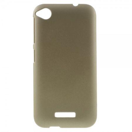 HTC Desire 320 Gummierte Hart Plastik Case Hülle - champagnerfarben