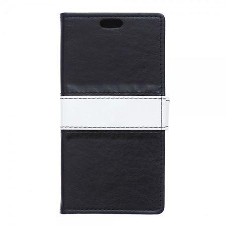 Sony Xperia X Zweifarbige Crazy Horse Leder Cover Hülle - schwarz