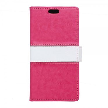 Sony Xperia X Performance Zweifarbige Crazy Horse Leder Cover Hülle - rosa