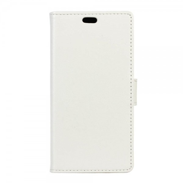 Huawei P9 Plus Schicke Crazy Horse Leder Case Hülle mit Standfunktion - weiss