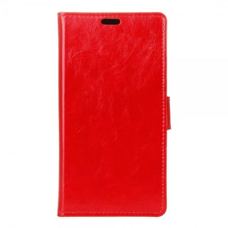 Huawei P9 Plus Moderne Crazy Horse Leder Cover Hülle mit Standfunktion - rot