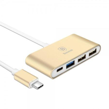 Baseus Sharp Series USB Type-C Hub mit einem Type-C und drei USB Ports