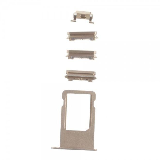 iPhone 6S Plus OEM Seitentasten Set (Stummschalten, Power, Volumentasten und SIM Halterung) - gold