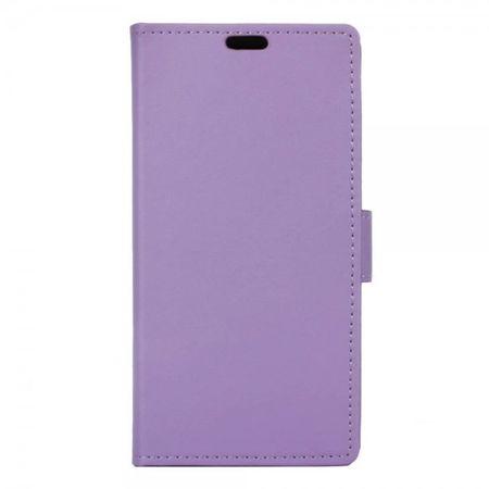 LG X Screen Zeitlose Leder Case Handyhülle mit Standfunktion - purpur