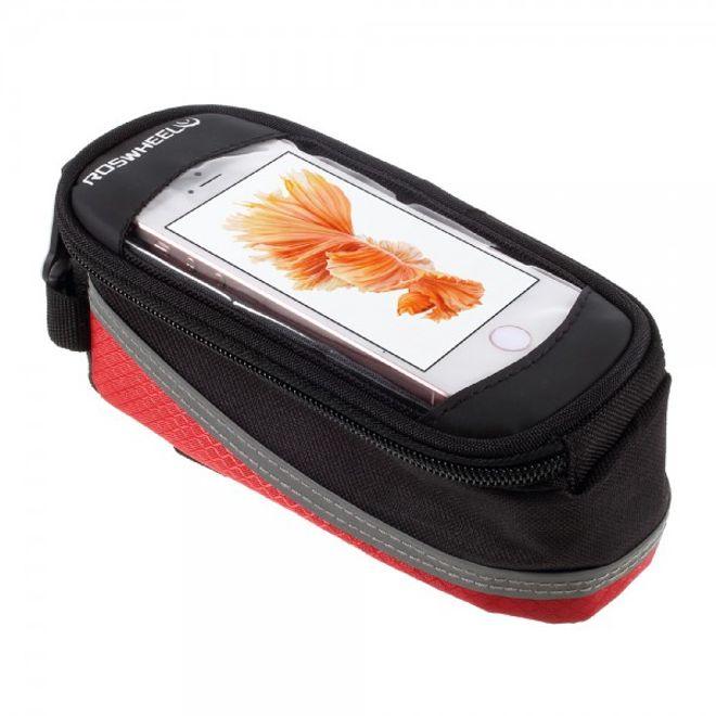 """Roswheel Roswheel Fahrrad Front Tasche mit touchfähigem Fenster für 4.2"""" Zoll Smartphones - rot"""